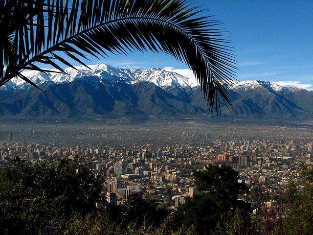 Santiago Chile from Cerro San Cristobal