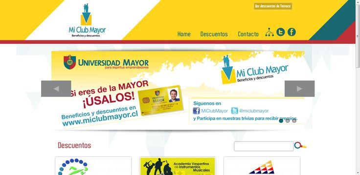 Web MI CLUB MAYOR http://www.miclubmayor.cl/ Todos los Beneficios y Descuentos para ti! produccion@miclubmayor.cl @miclubmayor