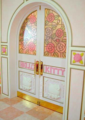 mine - Door To Hello Kitty House - Puroland, Japan #Japan