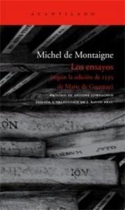 Ensayos. Michel de Montaigne. Acantilado