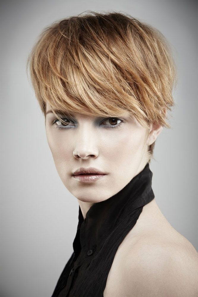Short Hairstyles With Long Bangs 361 Best Haircuts Images On Pinterest  Short Films Pixie Cuts And