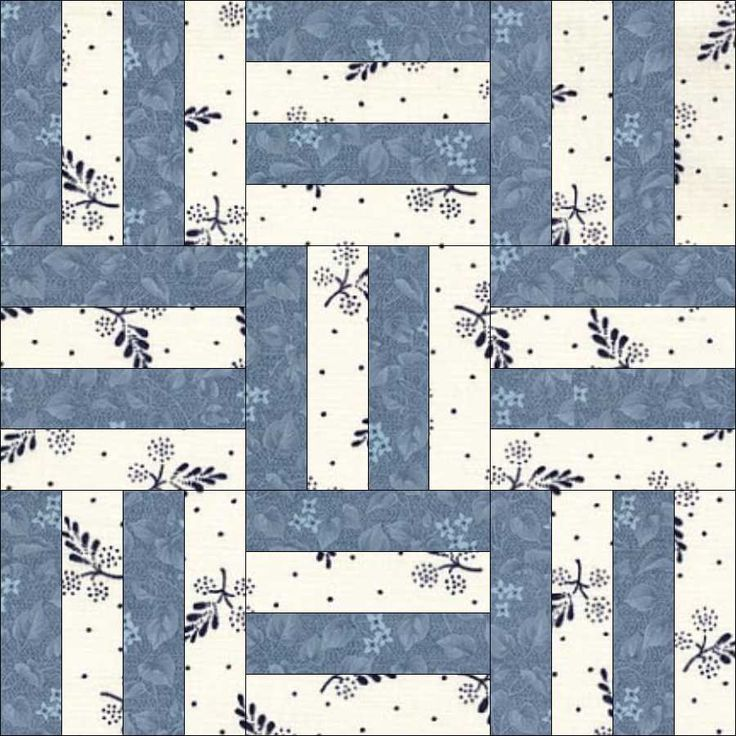 12-2 Basket Weave. BASKETWEAVE, 6″, Light  Easy peasy! I've called this block Basketweave, just to distinguish it from earlier blocks. It is more correctly called Rail Fence (1970) or Fence Rail (Q Book 108, Centennial Quilts); although, EQ7 calls it Four by Three.