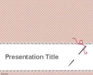 Sewing PowerPoint Template is a free pink PowerPoint template for sew