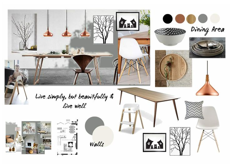Kirkwood Has Created This Beautiful Hand Sketch And Series Of Mood Boards For Her Assignment Submission During Our Online Diploma Interior Design