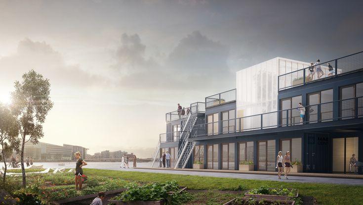 How a Transportable Student Village Could Alleviate Copenhagen's Housing Shortage,Visualization: CPH Student Village. Image © Grey Visuals