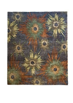 Beautiful Bloom Design Rug By Woven Treasures Rugs Melbourne  Indian Contemporary Designer Collection fine New Zealand wool pile.  REDUCED TO CLEAR #bloomrug #melbournerugs #melbournerugshop #rugs #rug