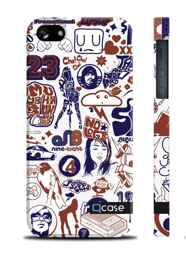 Чехол QCase для iPhone 5 | 5S PenArt 23 (пластиковый чехол, защитная пленка, заставка) купить в интернет-магазине BeautyApple.ru.