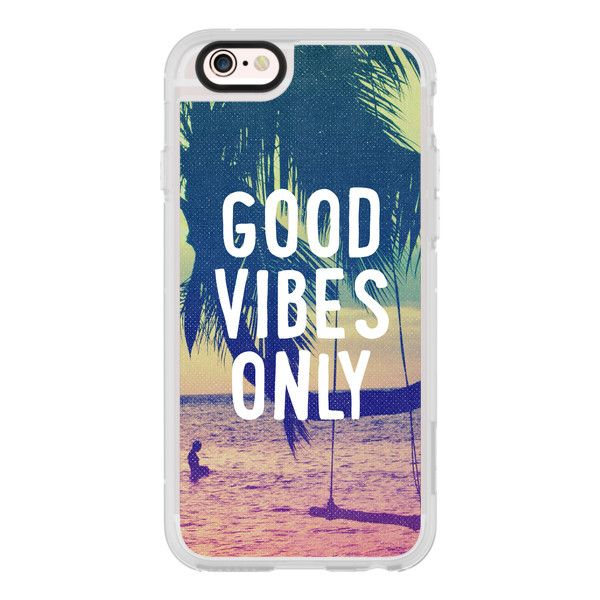 iPhone 6 Plus/6/5/5s/5c Case - Good Vibes Only Summer Beach California... ($40) ❤ liked on Polyvore featuring accessories, tech accessories, iphone case, iphone cover case, apple iphone cases, iphone hard case and iphone cases