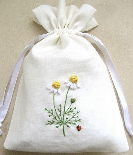 Embroidery, sachet