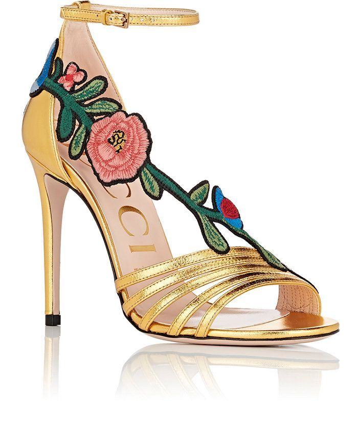 cbc822853 Gucci Ophelia Leather Ankle-Strap Sandals