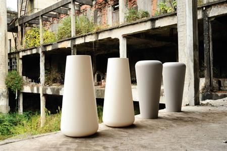 Our Vaso Lullaby pots in dove grey and white.