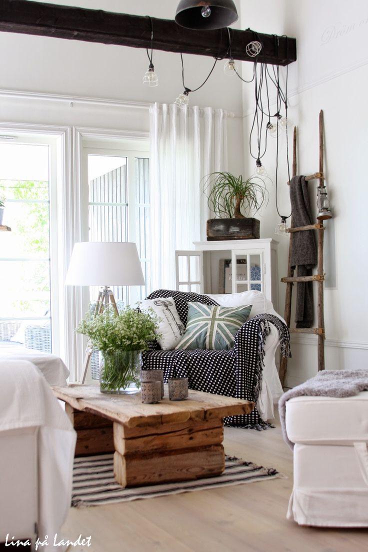 """""""white living room"""" sökord: +hus +landet"""