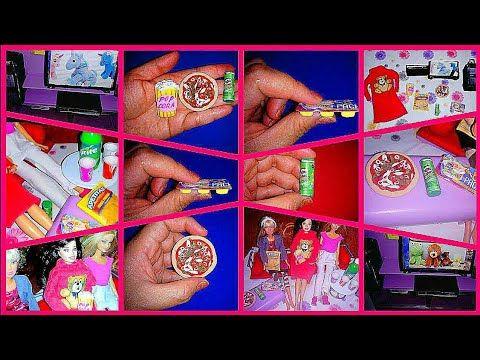 Diy Barbie Miniature Food Como Hacer Comida Ropa Y Accesorios Miniaturas Para Muñecas Youtube Barbie Miniatures The Fun Factory Barbie Dream