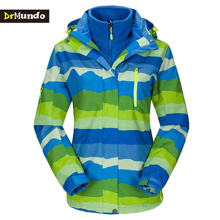 59.99$  Buy now - http://ali5j3.worldwells.pw/go.php?t=32759594070 - DrMundo Plus Size ski jacket women snowboard jacket waterproof snow jackets plus fleece Mountain hiking ski suit Big yards