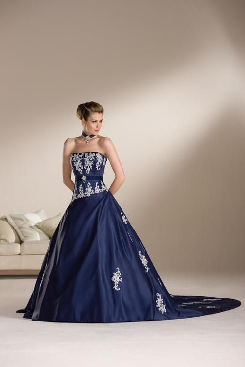 Colored strapless dresses
