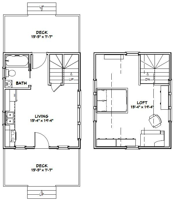 16x20 house 16x20h4a 574 sq ft excellent floor for Shed floor plans