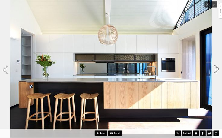 another lovely black white and timber kitchen similar in shape to how ours will be...?