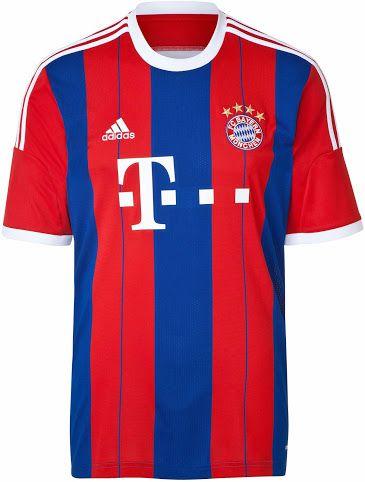 FC Bayern München 14-15 Home Kits - Footy Headlines