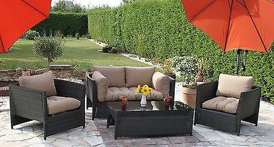 Gartenmöbel Auflagen für Rattan Lounge Gruppen Sitzpolster Polster Sitzkissen
