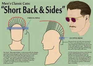 how to cut men's hair diagram