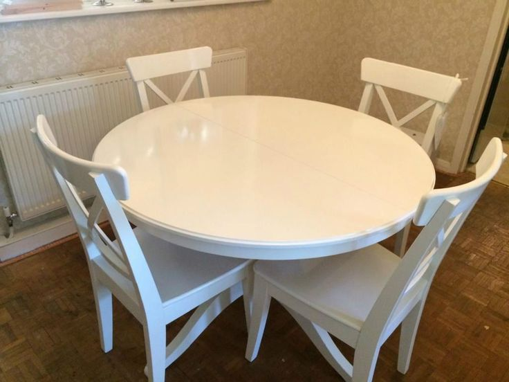 White round kitchen table ikea roselawnlutheran for White round dining table