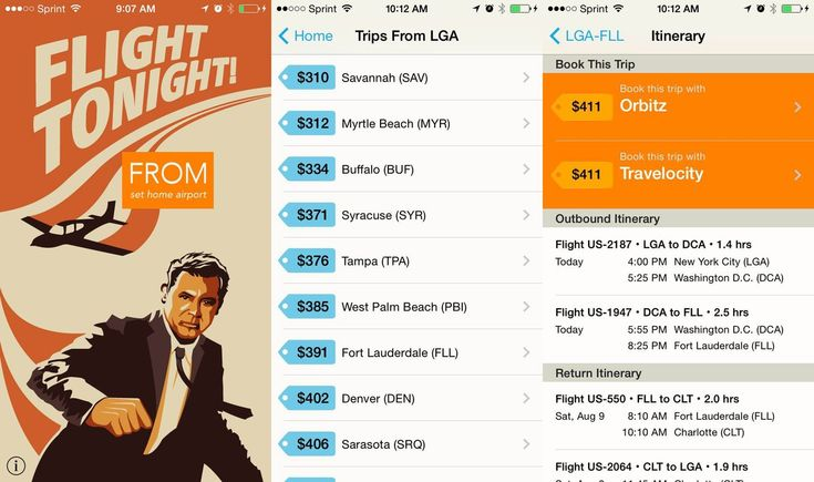 "Flight Tonight App Finds Last-Minute Airfare Deals Travel site Hopper launched the Flight Tonight app ""to help runaways, outlaws and impulse travelers find the best last-minute flight deals from their city."" Flight Tonight is currently available for iOS 7 only"