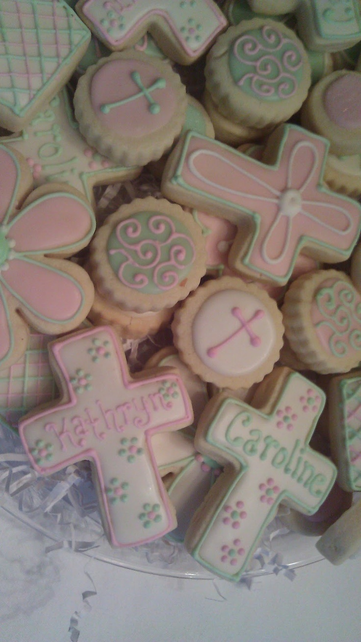 first communion cookie platters - Google Search
