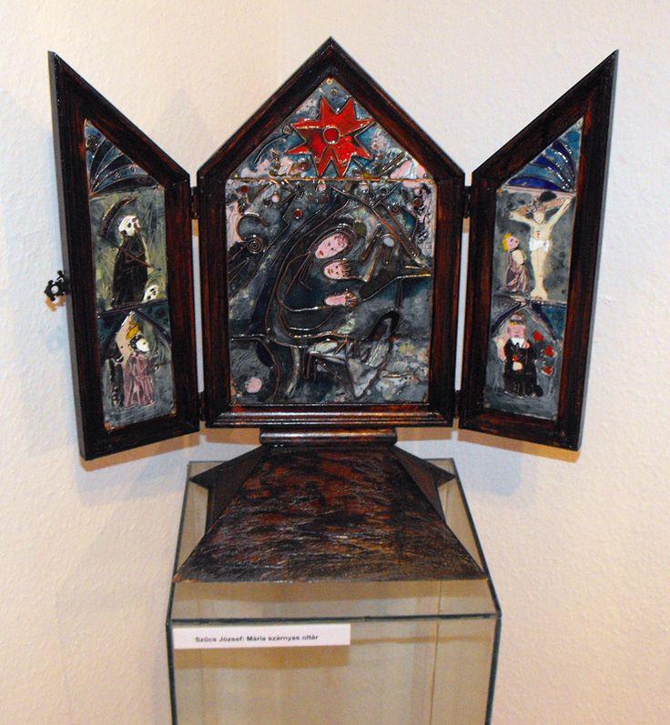 FÉNYMORZSÁK – A Tűzzománcművészek Magyar Társasága országos, csoportos kiállítása : Erdős Renée Ház Szűcs József