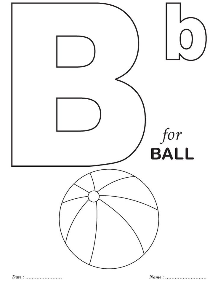 Printables Alphabet B Coloring Sheets