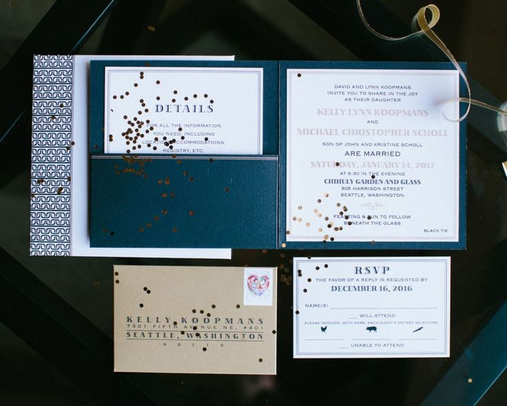 34 best Pocket   Folder Wedding Invitations images on Pinterest - invitation forms