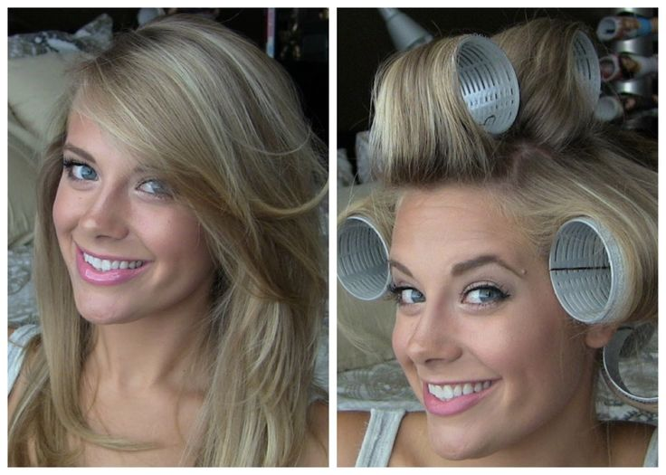 Voluminous Hair with Velcro Rollers (for medium volume and normal daytime natural looking style)