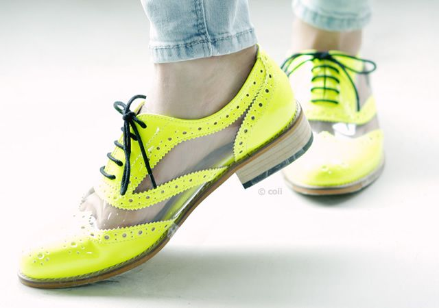 Fluo derby shoes by Coii: Neon, Derby Shoes, Fashion Inspiration, Derby Fluo, Tap Shoes