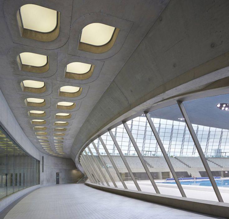 zaha hadid london aquatics centre public opening