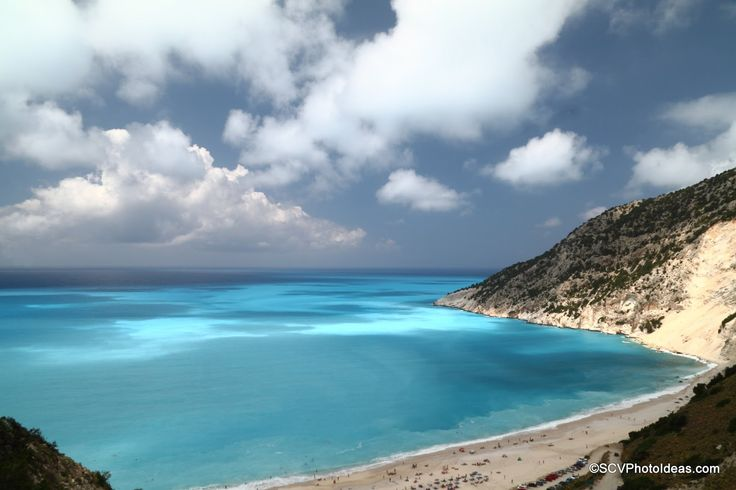 A small photo album of the turquoise  and blue waters at Myrtos Beach in Cephalonia (Kefalonia), Greece