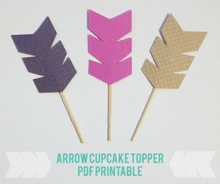 Arrow Cupcake Picks for a Brave themed birthday party- easy to make out of scrapbook paper and thin popsicle sticks