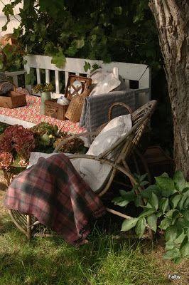 Charmerende gjenbruk blog: Siste rest av sommer.....Last vestige of summer.