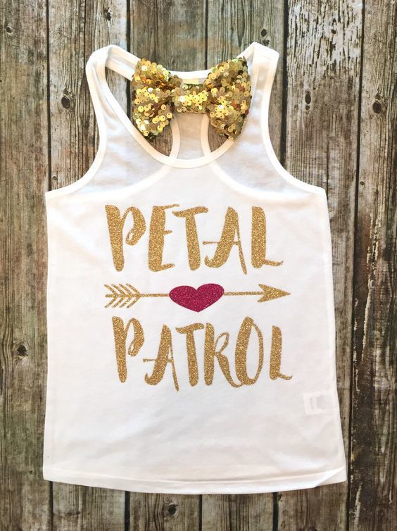 Girls Clothing, Petal Patrol Shirts, Flower Girl Shirts, Wedding Shirts, Petal Patrol Girls Shirts, Petal Patrol Clothing - BellaPiccoli