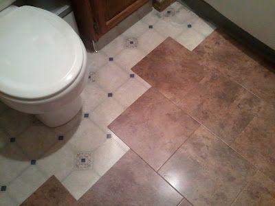 Bathroom Floor, Peel N Stick Tiles...want To This In