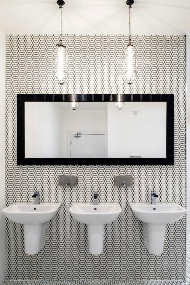 chic public bathroom