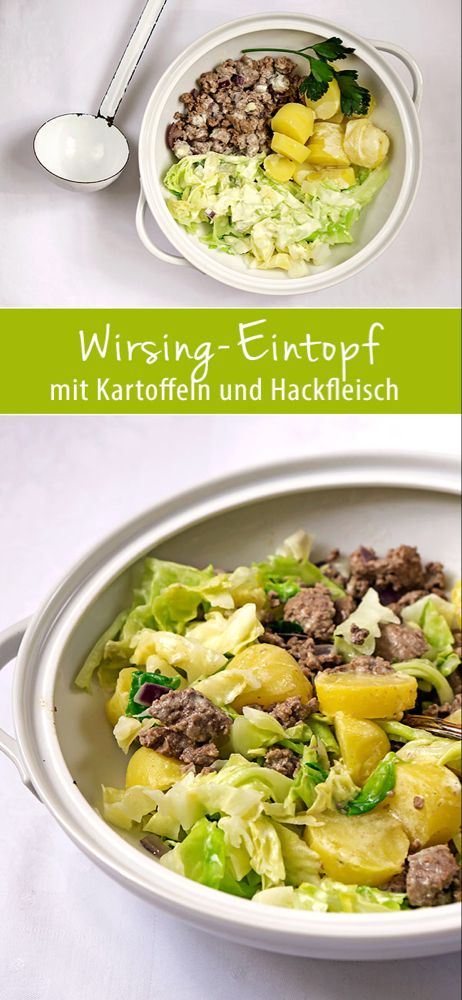Wirsing-Eintopf mit Kartoffeln & Hackfleisch