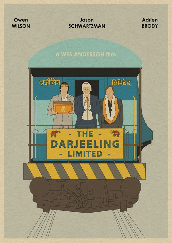 The Darjeeling Limited 16x12 Wes Anderson Movie by MonsterGallery