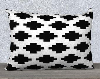Southwestern Pillow Cover - Black and White Decor - Throw Pillow - 18x18 or 20x14 Accent Pillow - Decorative Pillow - Aldari Home
