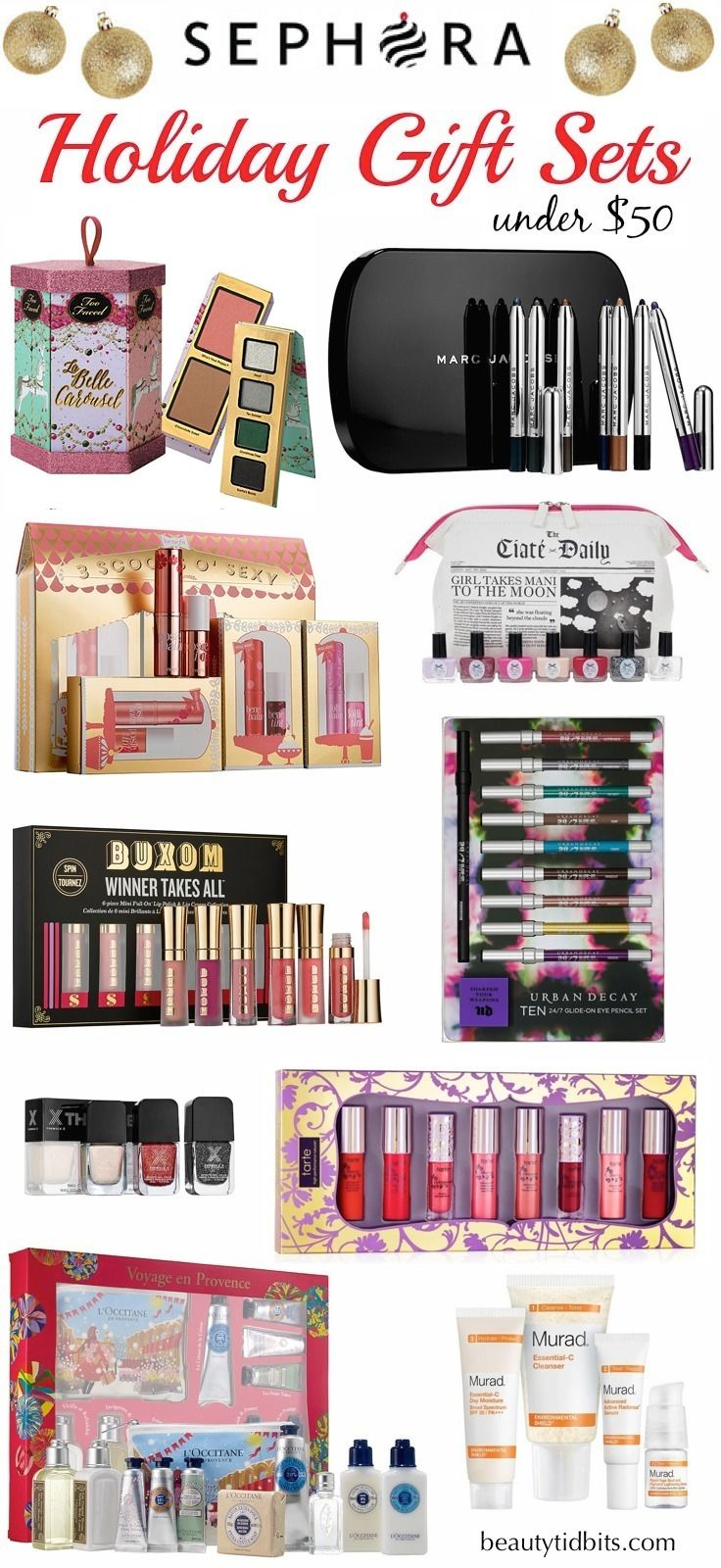Best Sephora Holiday Gift Sets under $50 | Sephora, 50th and Holidays
