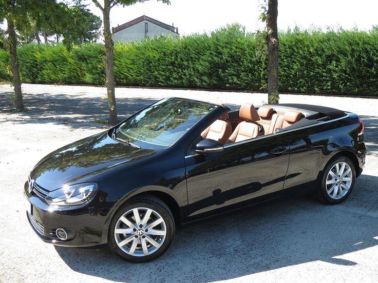 Volkswagen Golf Cabriolet 1.6 TDI 105Cv 77Kw,02/2012 Km21.500 colore nero metallizzato,capotta nera,sedili sportivi con supporto lonbare in pelle color tartufo riscaldati,volante multifunzione,climatronic bizona,Fari Bi-Xeno con luci diurne a LED,lava tergi fari,Mirror Pack,Park Pilot,videocamera per retromarcia,exclusive pack,cerchi in lega con pneumatici 225/45 R17,kit cromature interne ed esterne con terminale di scarico cromato,Design Pack,pedali in acciaio sportivi,frangivento,Sistema…