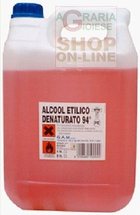 ALCOOL DENATURATO 94 GRADI  LT. 5 http://www.decariashop.it/prodotti-chimici/231-alcool-denaturato-94-gradi-lt-5.html