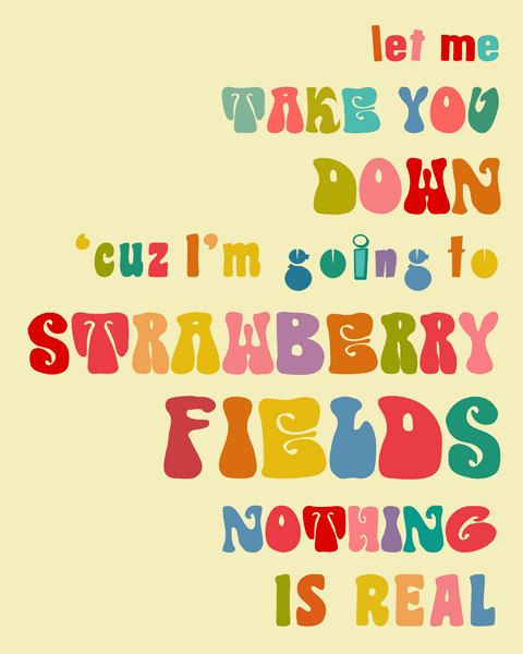 Strawberry Fields Forever; the real inspiration behind Gemma's nursery...had to do something to get Dylan excited about decorating a room :)