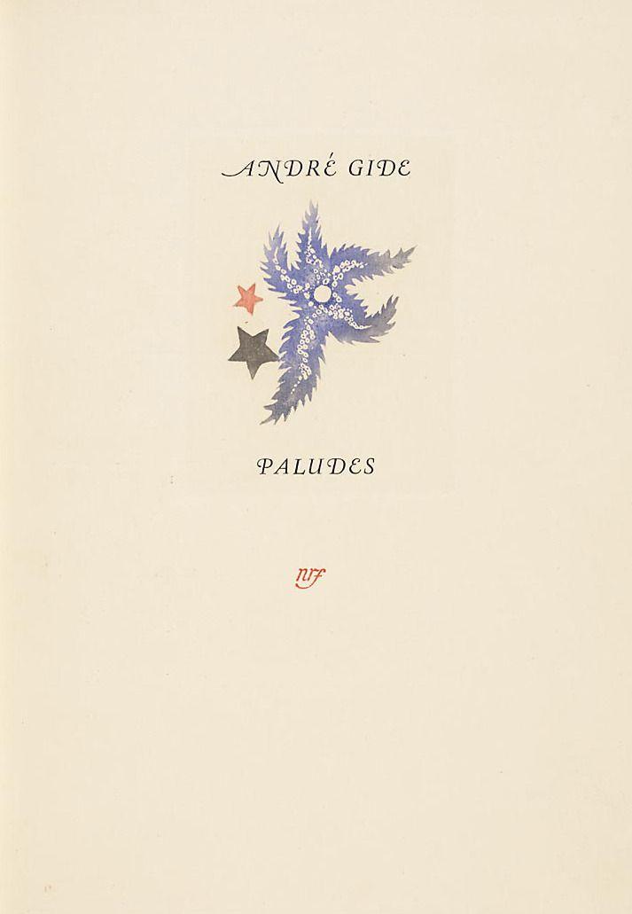 Paludes by Gide, illus. Alexandra Grinevski, 1930