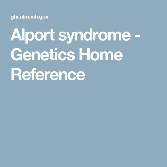Alport syndrome - Genetics Home Reference