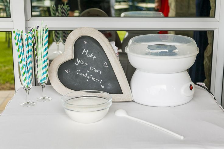 "Keep the guests busy with a ""make your own candyfloss"" station"