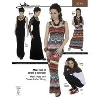 Jalie Pattern 3246 Maxi Dress and Shawl-Collar Shrug